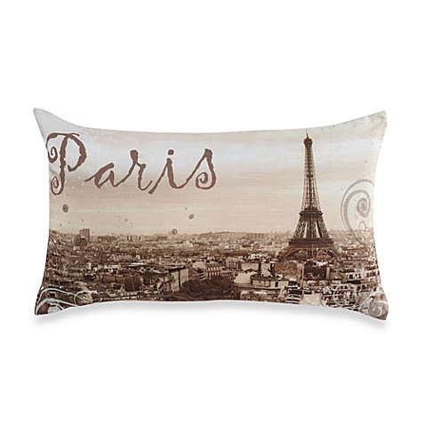 Paris Natural Throw Pillow
