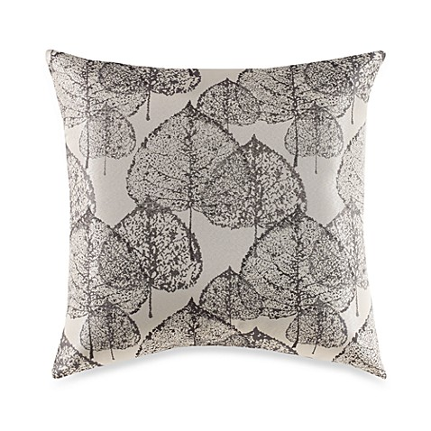 Press Leaf Charcoal Toss Pillow
