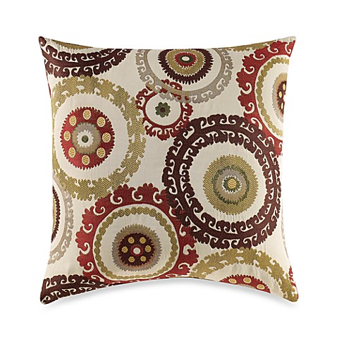 Suzani Rust Multi-Colored Throw Pillow