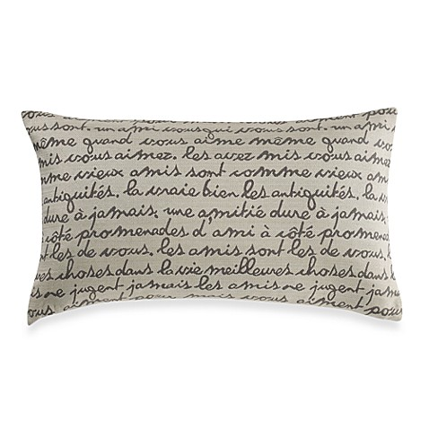 Writing Oblong Natural Throw Pillow