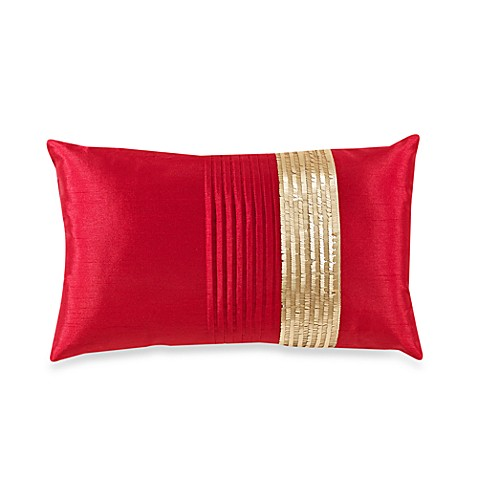 Karima Red Toss Pillow