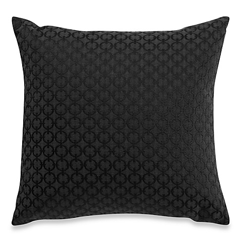 Chain Link Midnight Throw Pillow