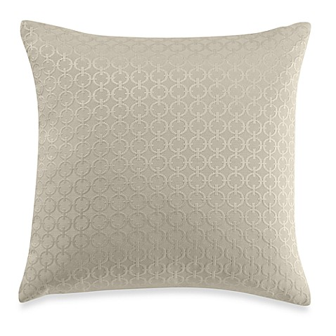 Chain Link Natural Throw Pillow