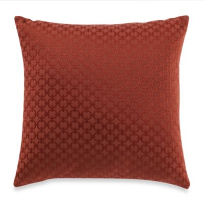 Chain Link Rust Toss Pillow