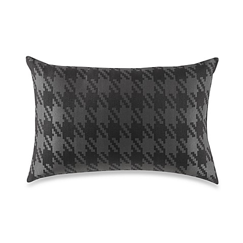 Houndstooth Black/Grey Throw Pillow