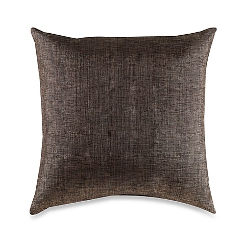 Metallic Linen Chocolate Toss Pillow