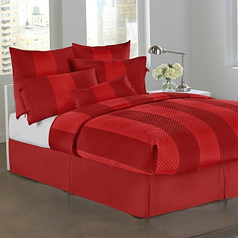DKNY Harmony Full/Queen Quilt in Cherry