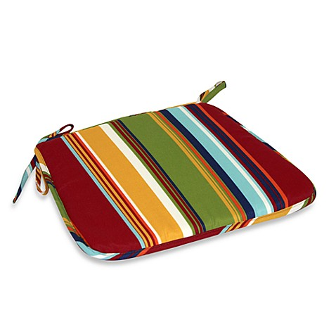 Bistro Chair Pad in Bright Stripe