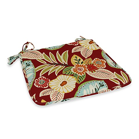 Outdoor Bistro Chair Pad in Floral