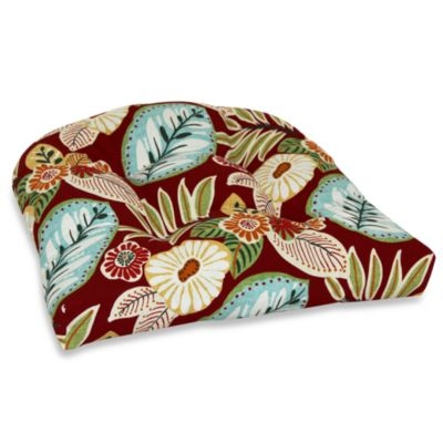 Outdoor Single U Cushion in Floral