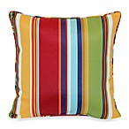 17-Inch Square Toss Pillow in Bright Stripe