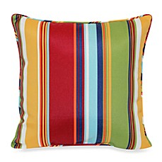 17-Inch Square Throw Pillow in Bright Stripe
