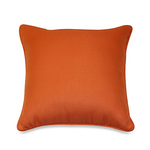 Outdoor 17-Inch Welt Cord Pillow in Orange
