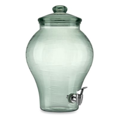 Green Acrylic 2-Gallon Beverage Dispenser