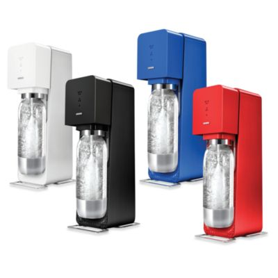 SodaStream Source Sparkling Water Maker Metal Edition Starter Kit in White
