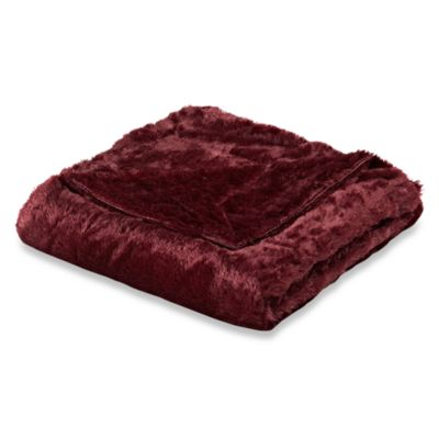Snowy Soft Faux-Fur Oversized Reversible Throw