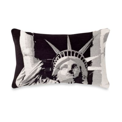Lady Liberty Oblong Toss Pillow
