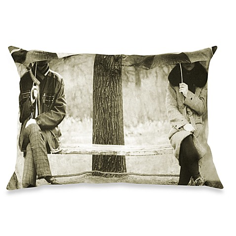 Rainy Day Oblong Throw Pillow