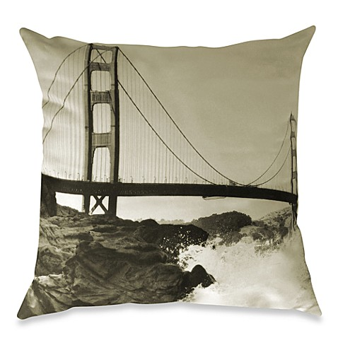 Golden Gate Bridge Square Throw Pillow