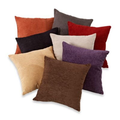 Decorative Pillow Sets For Bed : Crown Chenille Throw Pillow (Set of 2) - www.BedBathandBeyond.com