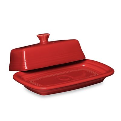 Fiesta™ Extra-Large Covered Butter Dish in Scarlet