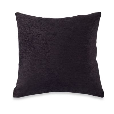 Crown Chenille Throw Pillow in Black (Set of 2)