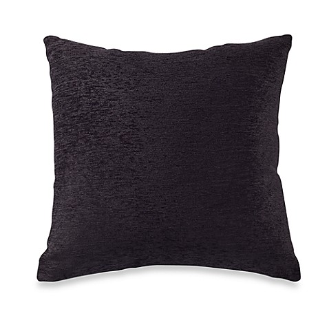 Buy Crown Chenille Throw Pillow in Black (Set of 2) from Bed Bath & Beyond