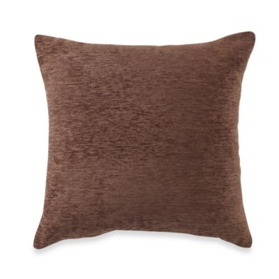 Crown Chenille Throw Pillow in Chocolate (Set of 2)