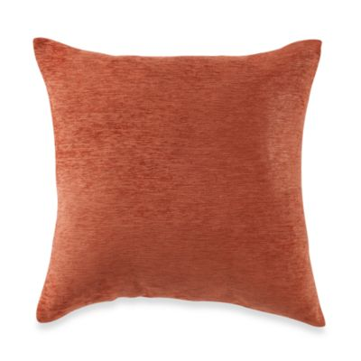 Crown Chenille Toss Pillow in Rust (Set of 2)