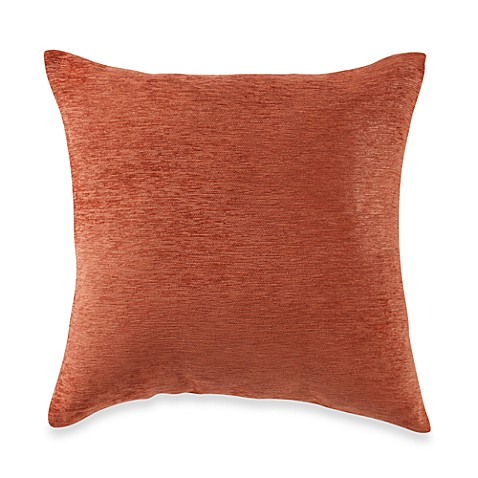 Throw Pillow Rust : Buy Crown Chenille Throw Pillow in Rust (Set of 2) from Bed Bath & Beyond