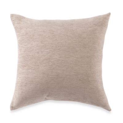 Crown Chenille Throw Pillow in Linen (Set of 2)