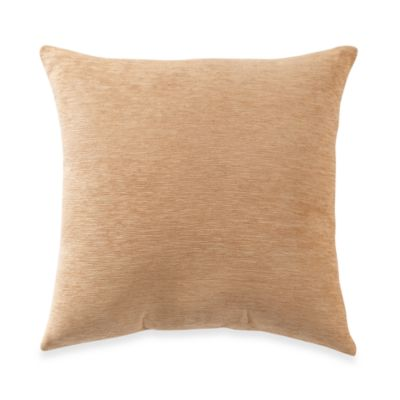 Crown Chenille Throw Pillow in Gold (Set of 2)