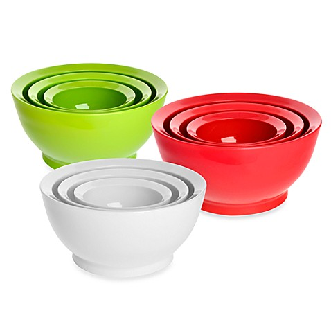 CaliBowl Stackable Plastic Mixing Bowl Sets