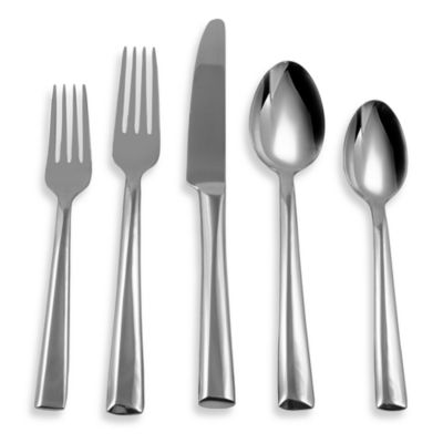 Hampton Forge Cross Bay Mirror 20-Piece Flatware Set