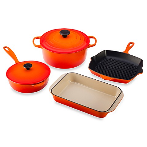 Le Creuset® 6-Piece Signature Set in Flame