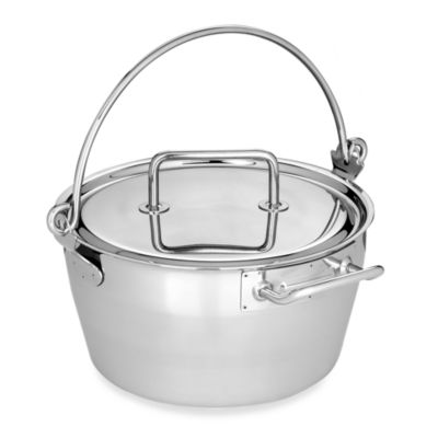 Demeyere 10.6-Quart Stainless Steel Masl in Pan with Lid