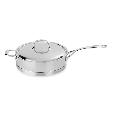 Demeyere Atlantis 2.6-Quart Stainless Steel Sauté Pan with Lid