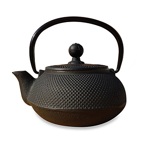 Tetsubin sapporo 20 ounce cast iron teapot with infuser - Japanese teapot with strainer ...