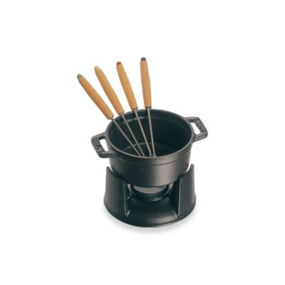 Staub Mini Chocolate Fondue Set with Forks