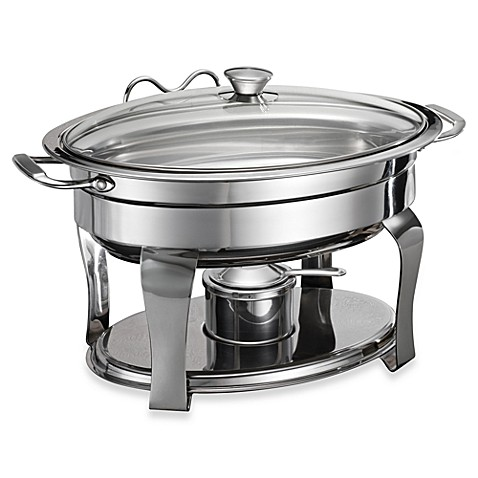 Tramontina 174 stainless steel 4 2 quart oval chafing dish bed bath