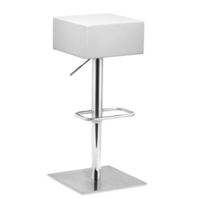Zuo® Modern Butcher Barstool in Black
