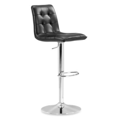 Zuo® Modern Oxygen Barstool in Black