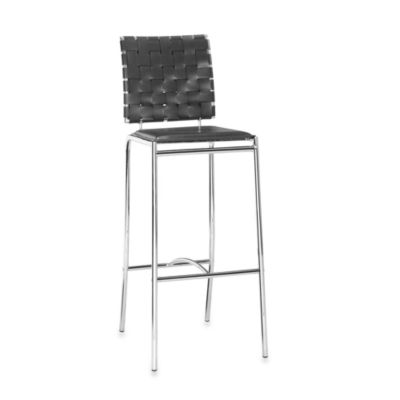 Zuo® Modern Criss Cross Bar Chairs in Black (Set of 2)