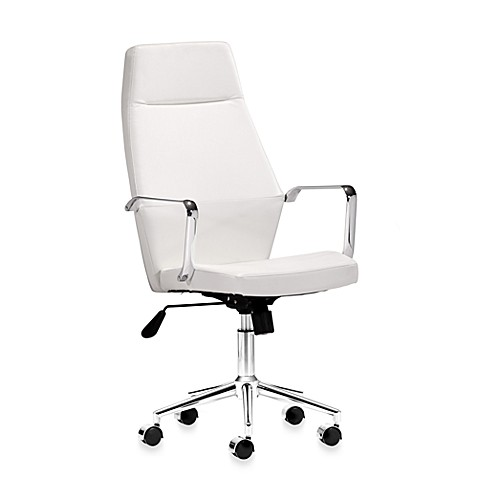 Zuo Modern Holt High Back Office Chair in White