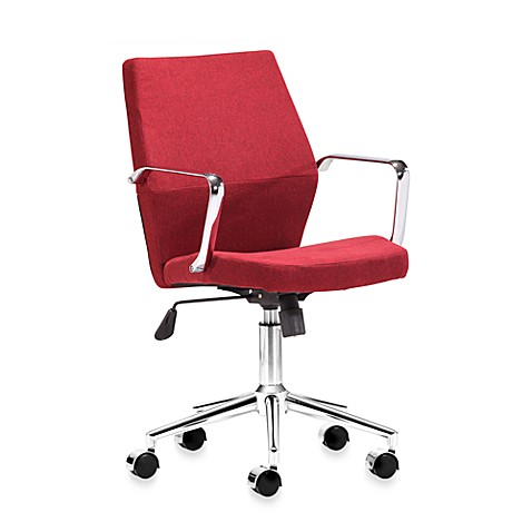 Zuo Modern Holt Low Back Office Chair in Red