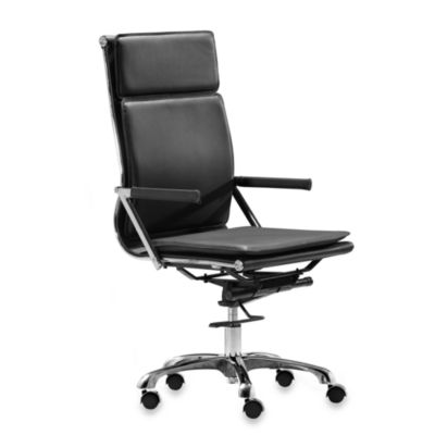 Zuo® Modern Lider Plus High Back Office Chair in Black