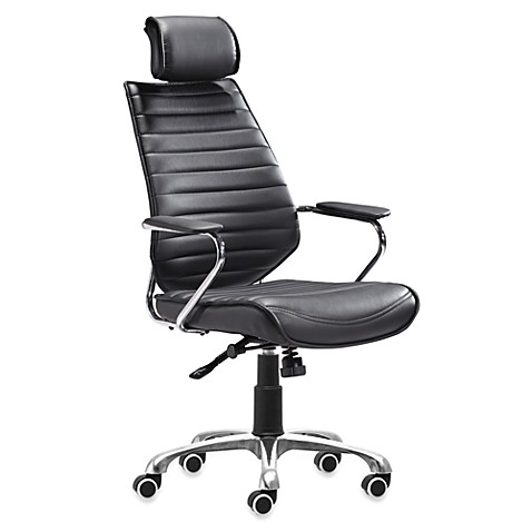 Zuo Modern Enterprise High Back Office Chair in Black