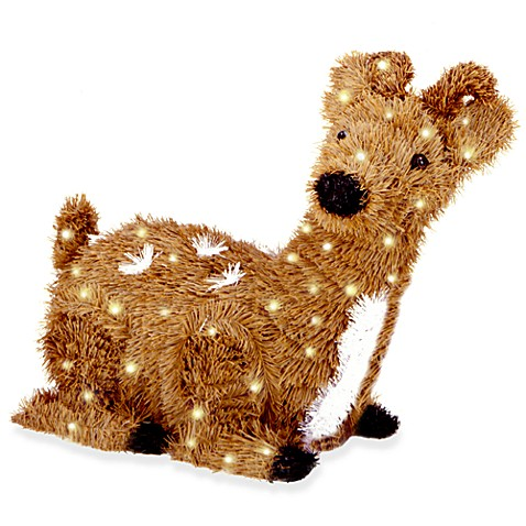 2-Foot Creative Images Brown Resting Reindeer Pre-Lit with 100 Clear Lights