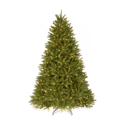 National Tree Feel-Real® 7-1/2-Foot Pre-Lit Belmar Fir Hinged Tree
