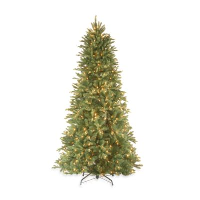 7 1/2-Foot Feel-Real® Tiffany Fir Slim Tree Pre-Lit with 600 Clear Lights